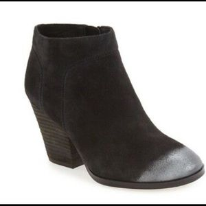 Isola Leandra Ankle Boots Black Suede Silver 8.5